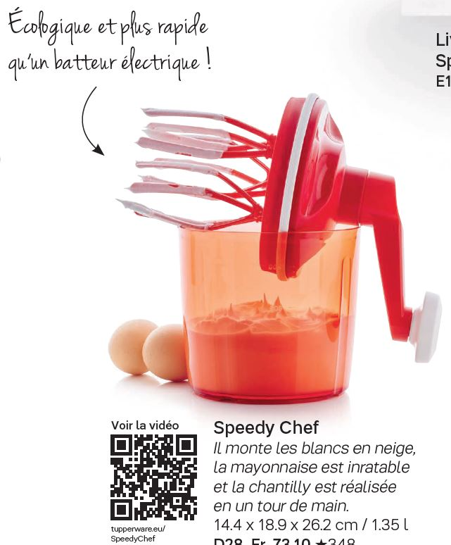 fiche speedychef tupperware by. Black Bedroom Furniture Sets. Home Design Ideas
