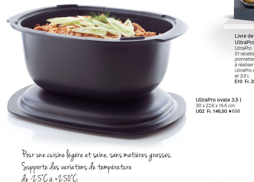 Recette Ultra Pro 5.7 L Tupperware 17_25 offres spéciales 50% | tupperwaremyhobbies.ch
