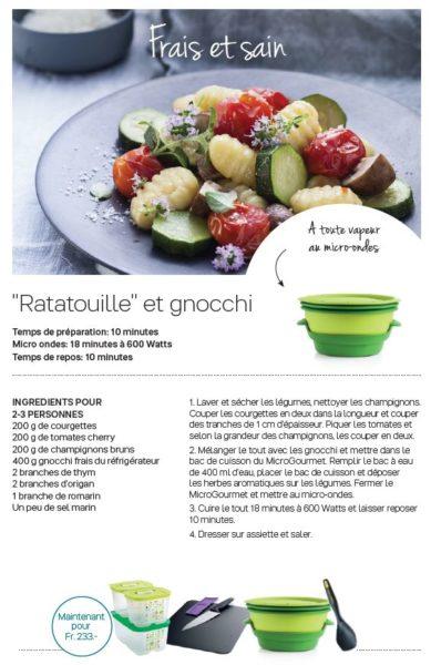 Recette Ratatouille et Gnocchi