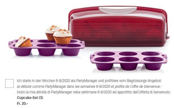 Cupcake set (2 moules silicone à Tupcake et un grand Porte-gâteau rectangulaire) pour seulement 20 francs