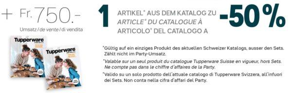 Offre hôte/sse : un produit du catalogue à 50% selon conditions
