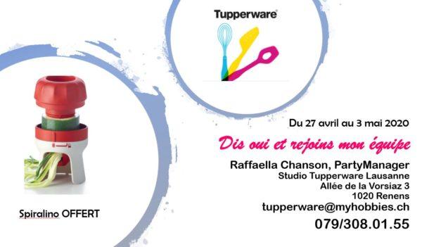 Rejoins-nous au Studio Tupperware Lausanne