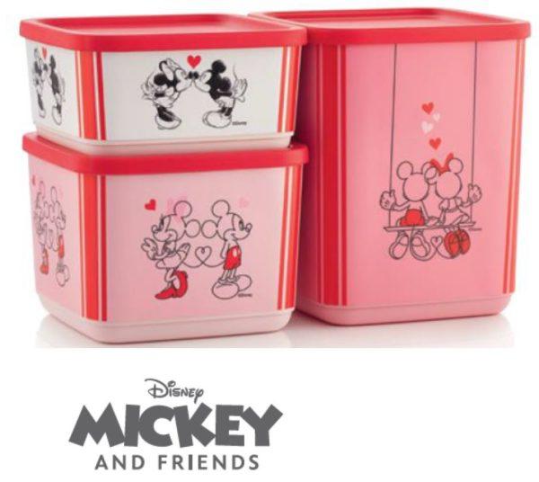 Set Mickey and Friends (3) -  Boîtes Cubix de 650 ml + 1 L + 1.8 L