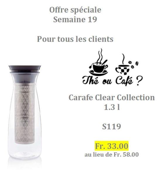 Offre spéciale Tupperware Suisse uniquement du 4 au 31 mai 2020 - Carafe Clear Collection à prix réduit