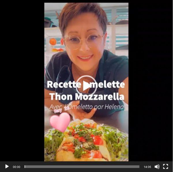 Vidéo de la recette Live Facebook de Helena du Studio Tupperware Lausanne - Omelette Thon, Mozzarella et Tomates cerises
