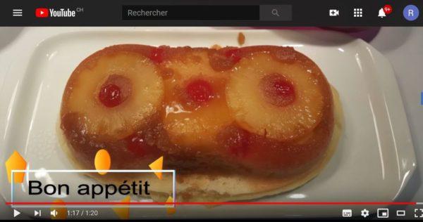 Vidéo de la recette du Renversé Ananas