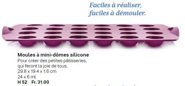 Moule à mini-dômes silicone - Sortie du Catalogue Printemps-été 2020