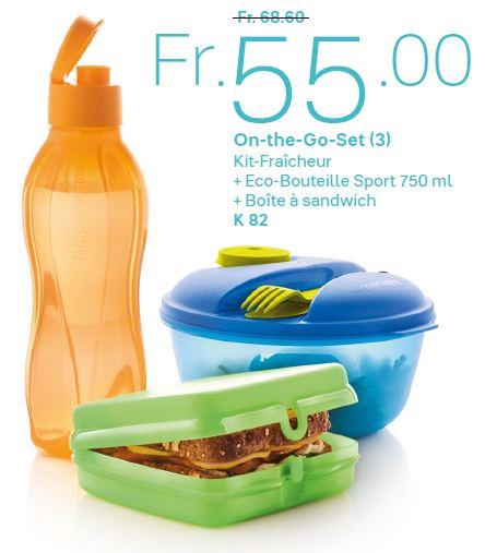 Kit Fraîcheur + Eco-Bouteille Sport 750 ml + Boîte à sandwich - Sortie du Catalogue Printemps-été 2020